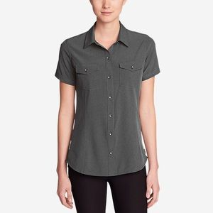 EDDIE BAUER medium short sleeve button up shirt